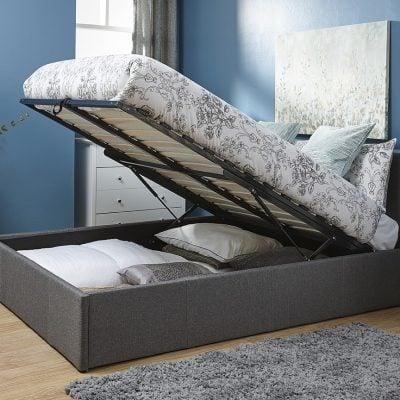 Arizona Grey Ottoman Bed Frame