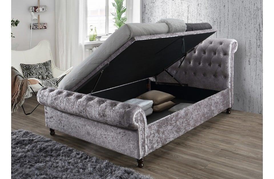 7ac903776acca8 Birlea Castello Grey Ottoman Bed Frame Birlea Castello Steel Ottoman Bed  Frame ...