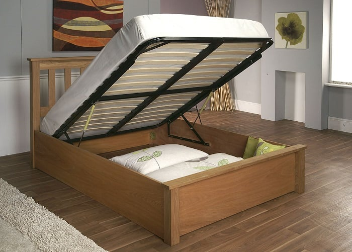 Limelight Terran Wooden Ottoman Storage Bed Frame