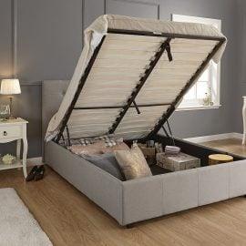 Montana Grey Ottoman Bed Frame