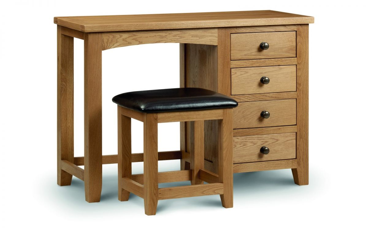 Marlborough oak single pedestal dressing table for Single dressing table