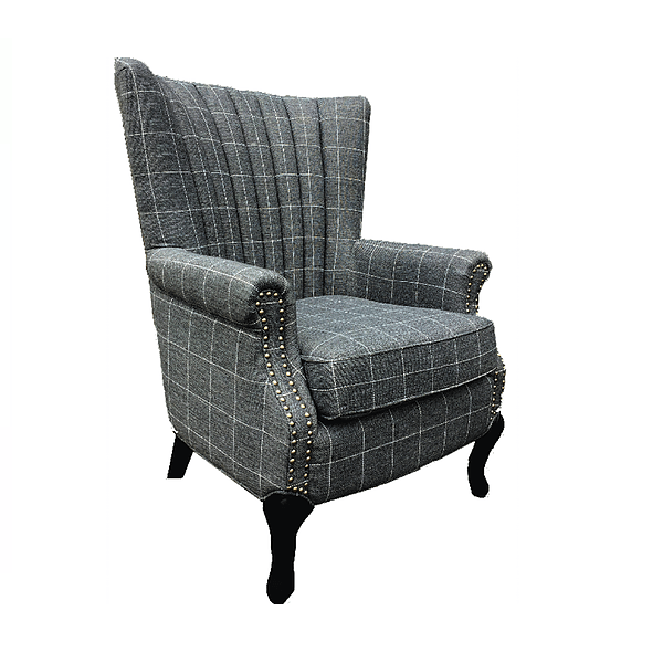 fionn grey with white pin stripe armchair bigmickey ie