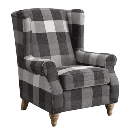 fido-one-seater-armchair-grey-check