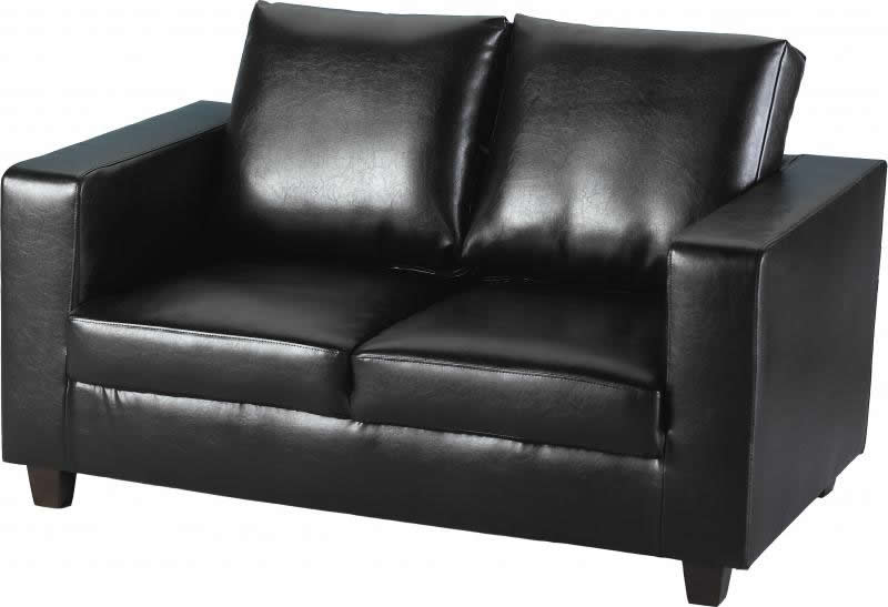 Magnificent Taylor Two Seater Faux Leather Sofa In A Box Alphanode Cool Chair Designs And Ideas Alphanodeonline