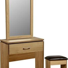 charlene-1-drawer-dressing-table-set-oak