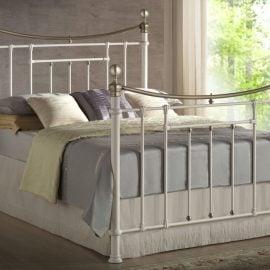 birlea-bronte-metal-bed-frame-cream