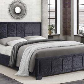 birlea-hannover-fabric-bed-black-crushed-velvet