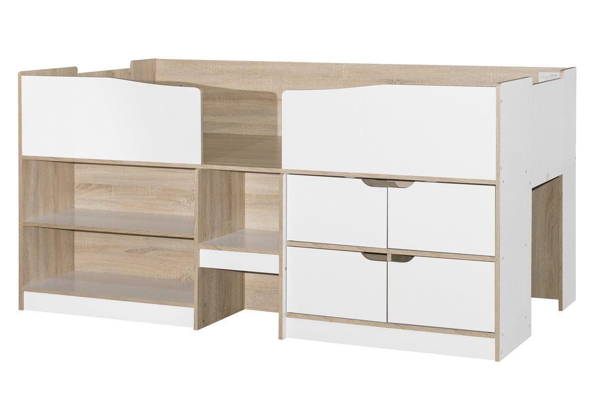 birlea-merlin-cabin-bed-white-and-light-oak