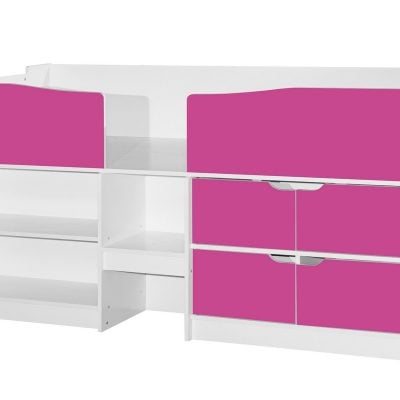 birlea-merlin-cabin-bed-white-and-pink