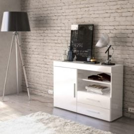 edgeware-solid-colour-1-door-2-drawer-sideboard-white