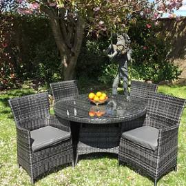 maxwell-5-piece-dark-rattan-garden-set