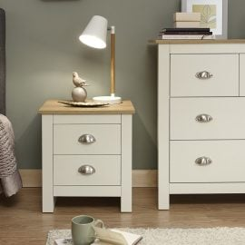 york-2-drawer-bedside-cream