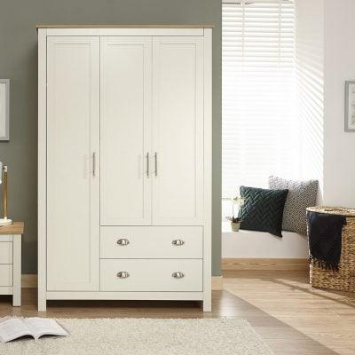 york-3-door-2-drawer-wardrobe-cream