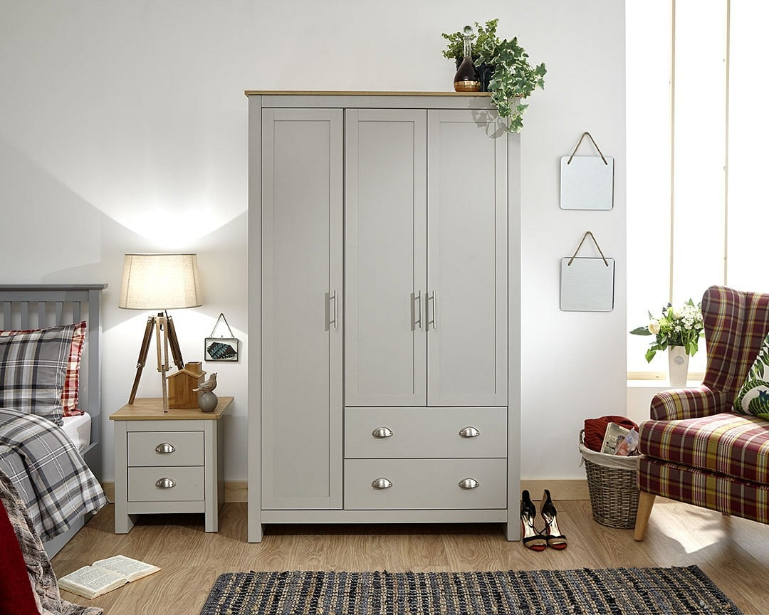 york-3-door-2-drawer-wardrobe-grey