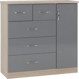 niamh-5-drawer-low-wardrobe-grey-gloss