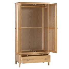 cotswold-2-door-1-drawer-wardrobe-open