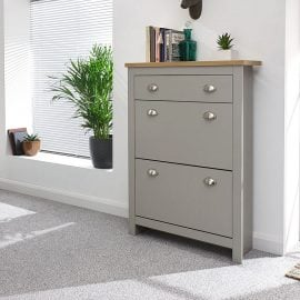 york-2-door-1-drawer-shoe-cabinet-grey