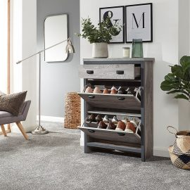 bosie-2-tier-1-drawer-shoe-cabinet-open